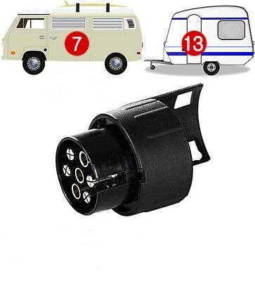 7 pin to 13 pin TRAILER/CARAVAN TOWBAR TOWING SOCKET ADAPTOR PLUG CONVERTER