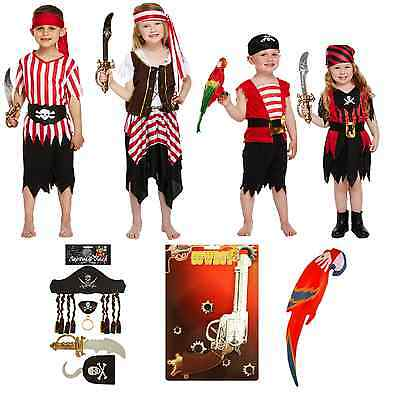 Pirate Fancy Dressing Up Costume Children Outfit Caribbean Buccaneer Deck Lot