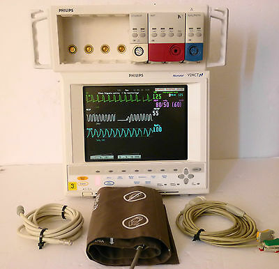 Philips Viridia 24CT Patient Monitor Adult,Neonatal with SpO2,ECG,NIBP Modules