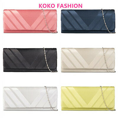 Black Silver Lime Navy Champagne Coral Teal Ivory Wedding Prom Party Clutch Bag