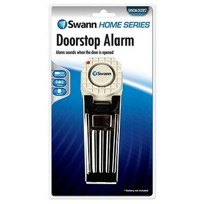Genuine SWANN Security Intruder Detection Door Stop Alarm Battery Operated 110DB
