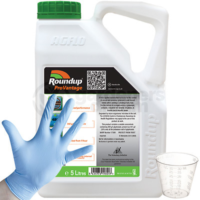Roundup ProVantage 480 Glyphosate Weedkiller 1 x 5 Litre Strong Professional C+G