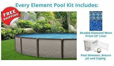 Element 12' x 24' ft Oval Above Ground Pool Standard Package Salt Water Friendly