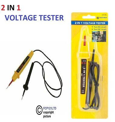 2-In-1 Voltage Electrical Tester Marksman AC/DC 6to380 Volts Socket Power Cable