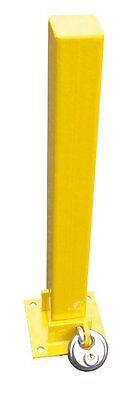Maypole Fold Down Heavy Duty Security Parking Post With Padlock Driveway Bollard