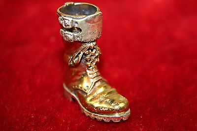 Boot In Low Gold And Sterling Silver. Hand Chiselled. Spain (?) Circa Xx.