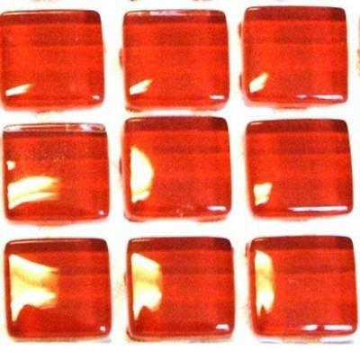 81 Murrini Crystal Glass Mosaic Tiles - Brilliant red