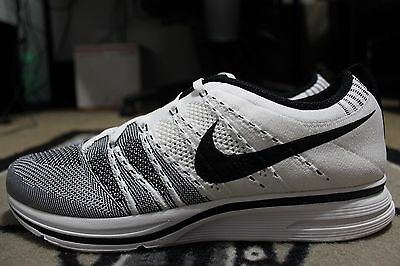 1d0bc5f8ab118 NEW Nike Flyknit Trainer+ White Black Kanye West Yeezy DS SZ 8 ( 532984-100