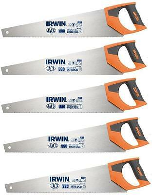 "5 x IRWIN JACK 880 UNIVERSAL PANEL HAND SAW 500MM 20"" 8TPI"