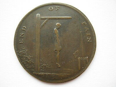 Middlesex 1793 End of Pain halfpenny token DH833