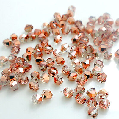 New Colors 200pcs bicone crystal glass loose spacer beads 4mm DIY F114