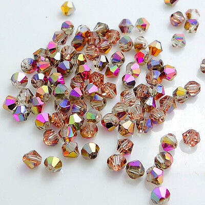 New Colors 200pcs bicone crystal glass loose spacer beads 4mm DIY F113