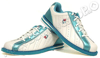 BowlingShoes, 3G Kicks, Ladies, for Right und Left-handed white/blue