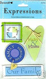 Dovecraft Expressions Embellishments/Stickers Memories