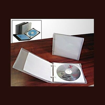 UniKeep CD/DVD 5 Disc Storage Wallet White w/5 pgs