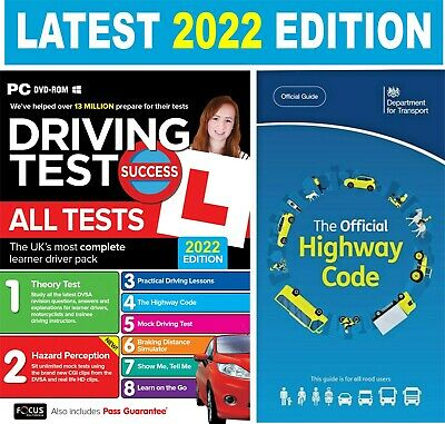 2017/2018 Driving Theory Test & Hazard CD DVD Rom + Official  Highway Code Book