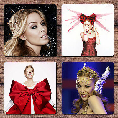 Kylie Minogue Coaster Set NEW Kiss Me Once Christmas Only You