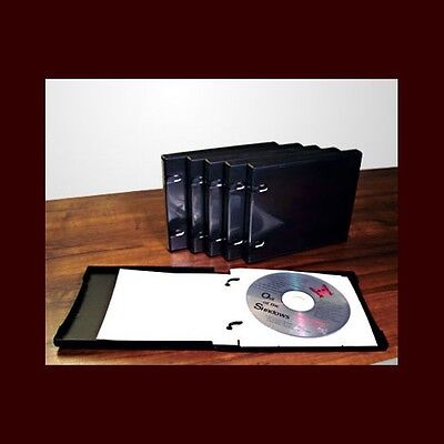 Six (6) UniKeep CD/DVD 5 Disc Storage Wallet Black