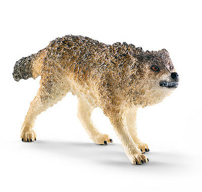 Schleich 14741 Wolf Growling Wild Animal Model Toy Figurine 2015 - NIP