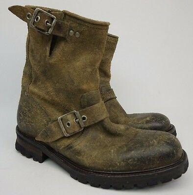31624319899e0 JOHN VARVATOS COOPER Buckle Hand Made In Portugal Twinie Brown Mens Boots  Size 7