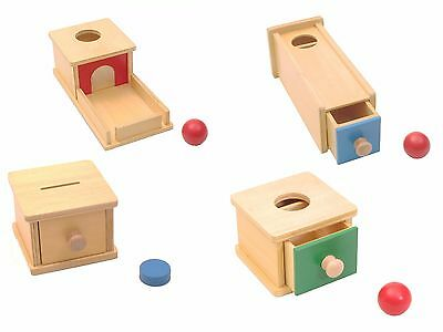NEW Montessori Infant Toddler Material - Set of 4 Wooden Toys