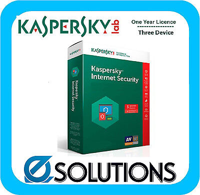 Kaspersky Internet Security 2017 for 3 Windows Devices 1Y Licence Key Only