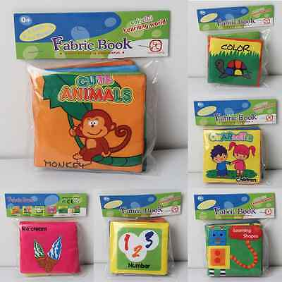 Baby Soft Cloth Cognize Book Picture Kid Intelligence Development Learn Toy