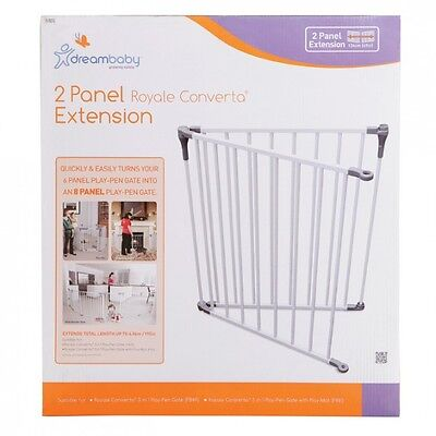 New Dreambaby Royale Converta Playpen 2 Panel Safety Baby Gate Extension Dream