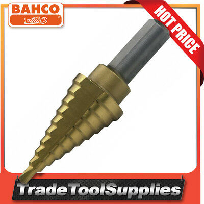 Bahco 10 Steps 4-22mm Titanium-Nitride Coated Step Drill 229-SD