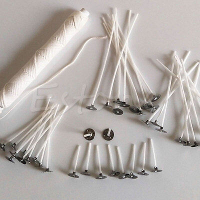 100/200Pcs Metal Candle Wick Sustainer Wick Tabs Silver For Candle Making  Gift