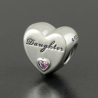 Authentic Genuine Pandora Silver Daughter's Love Charm - 791726PCZ