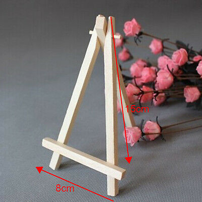10x Mini Wooden Cafe Table Number Easel Wedding Place Name Holder Mobile Stand