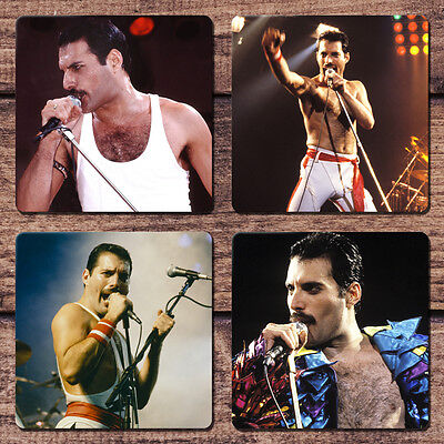 Freddie Mercury Coaster Set NEW Living on My Own Queen Bohemian Rhapsody