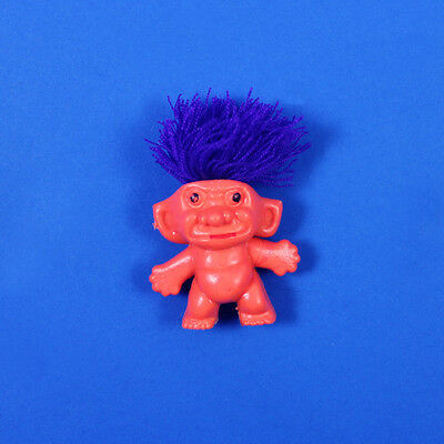 "#9 Hong Kong ~ VINTAGE 1.75"" SMALLEST MINIATURE TROLL DOLL  ~ 1960s, Yarn Hair"