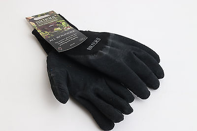 BR066 Briers Adults All Rounder Gardening Garden Gloves - Black Size Large