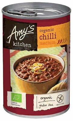 Amys Soups Medium Chili 416g (Pack of 6)