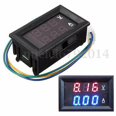DC 30V 100A Digital Ammeter Voltmeter Panel Blue+Red LED Volt AMP Meter Gauge UK