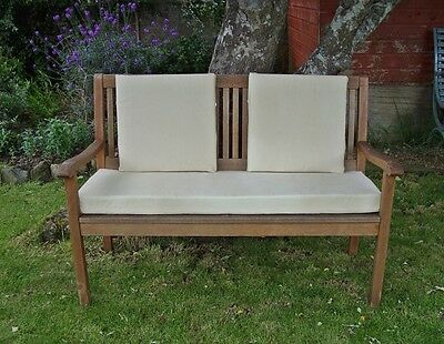 Garden Bench Cushion - 4ft (2 Seater) - Cream Cord - With or Without Back Pads