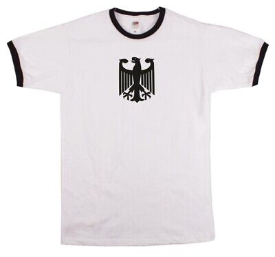 German Army Eagle Bundeswehr Ringer T-shirt - Military, Various Colours, S-XXL