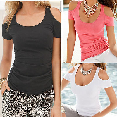 Fashion Women Cotton Short Sleeve T-Shirt Casual Tops Ladies Summer Blouse Tee