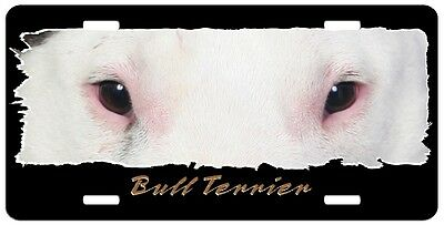 "Bull Terrier ""The Eyes Have It"" License Plate"