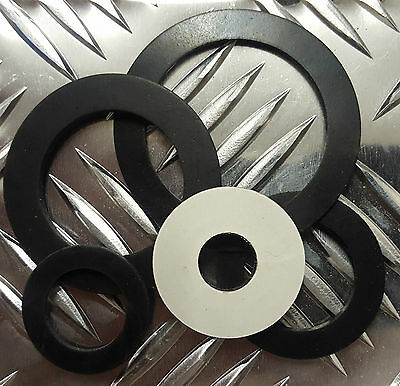 5 x Bespoke Solid Neoprene Adhesive Backed Rubber Washer 2mm thk upto 60mm dia