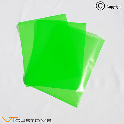 3 x A4 sheets - Green Headlight Film for Fog Lights Tint Smoke Car Vinyl Wrap