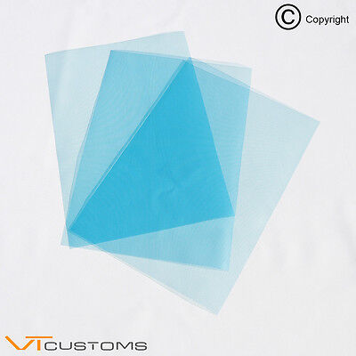 3 x A4 sheets - Light Blue Headlight Film for Fog Lights Tint Car Vinyl Wrap