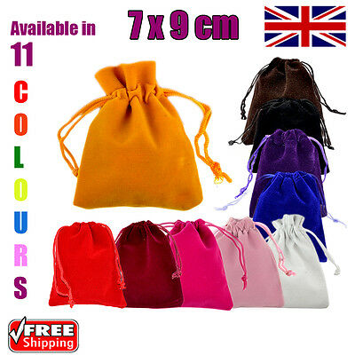 7 x 9 cm Velvet Gift Pouches Wedding Favour Bags Jewellery Pouch in 11 Colours!