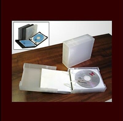 UniKeep CD/DVD 25 Disc Storage Wallet White w/25 pgs