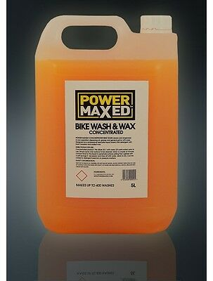 Power Maxed Bike Wash & Wax 5L Quick And Easy Spray Concentrate  400 Washes