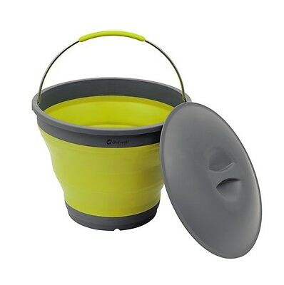 Outwell Collaps Bucket With Lid Yellow  / Camping Collapsible Water Container