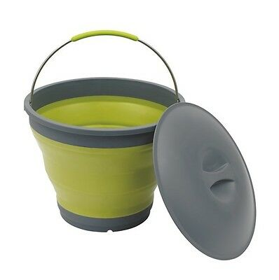 Outwell Collaps Bucket With Lid Green  / Camping Collapsible Water Container