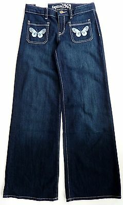 Kids GAP Girls BLUE Denim Flares JEANS Butterfly Flared Trousers 5-14 £22.95